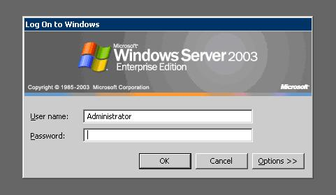 Reset or recover Windows server 2003 password for free