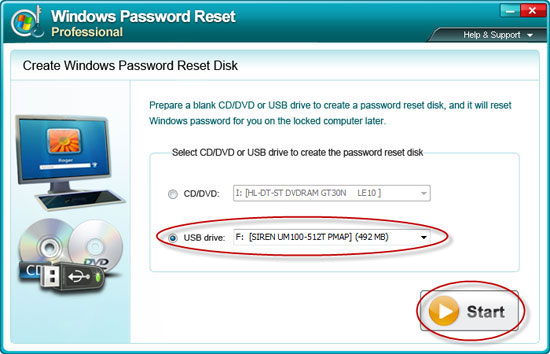 create Windows XP password reset disk