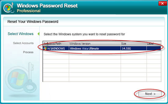bypass Windows Vista password