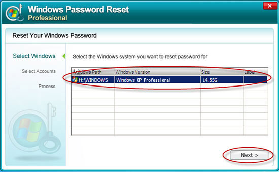 password recovery software free  for windows xp