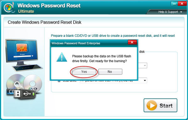 create Windows Server 2003 Password reset disk
