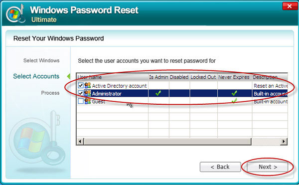 Windows Server 2003 admin password reset