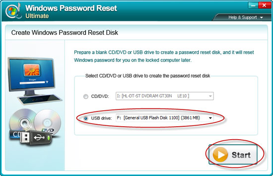 create Windows Server 2000 password reset disk