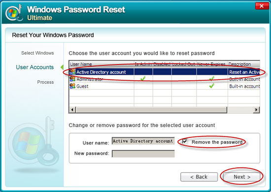 how to change the domain administrator password in windows 2003