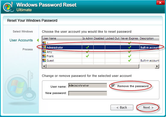 crack Windows Server 2008 admin password