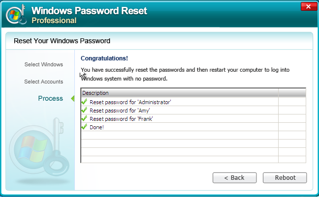 Windows Password Reset Enterprise 8.0.1.0